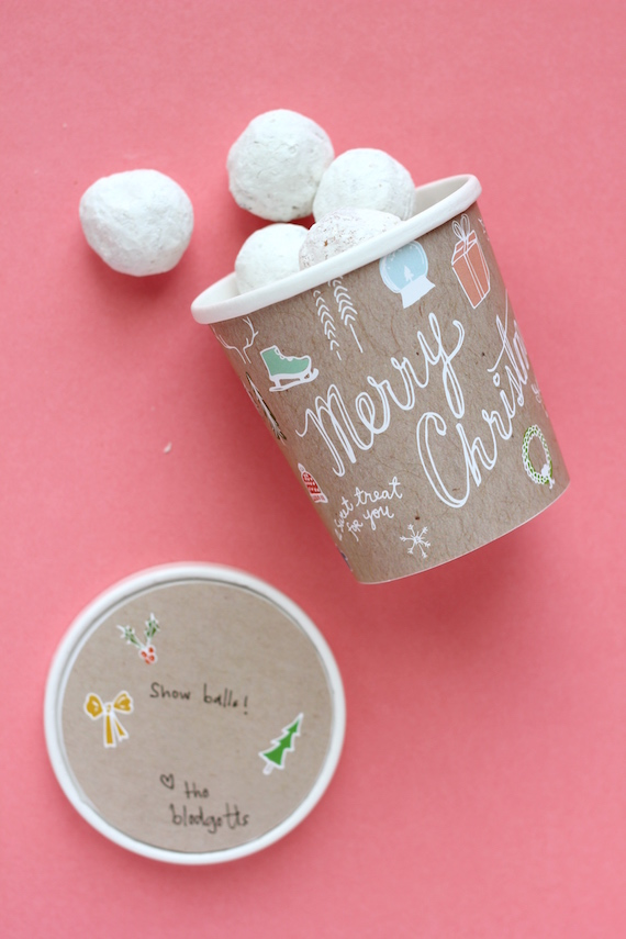 christmas treat labels