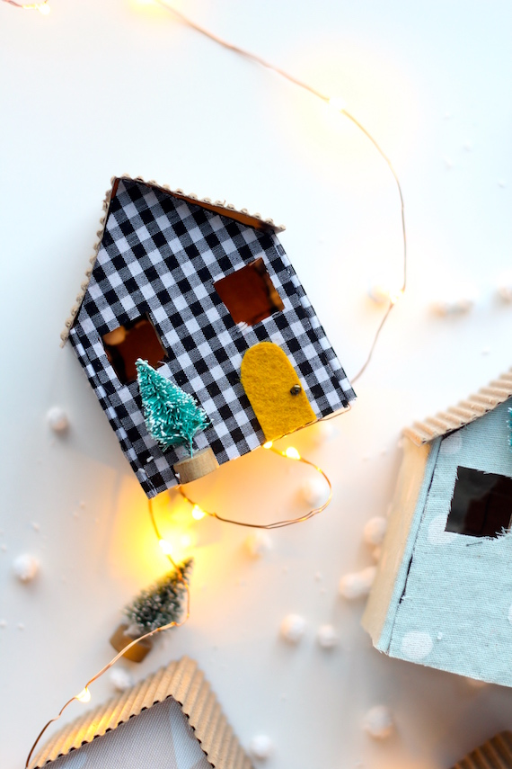 diy cardboard christmas houses