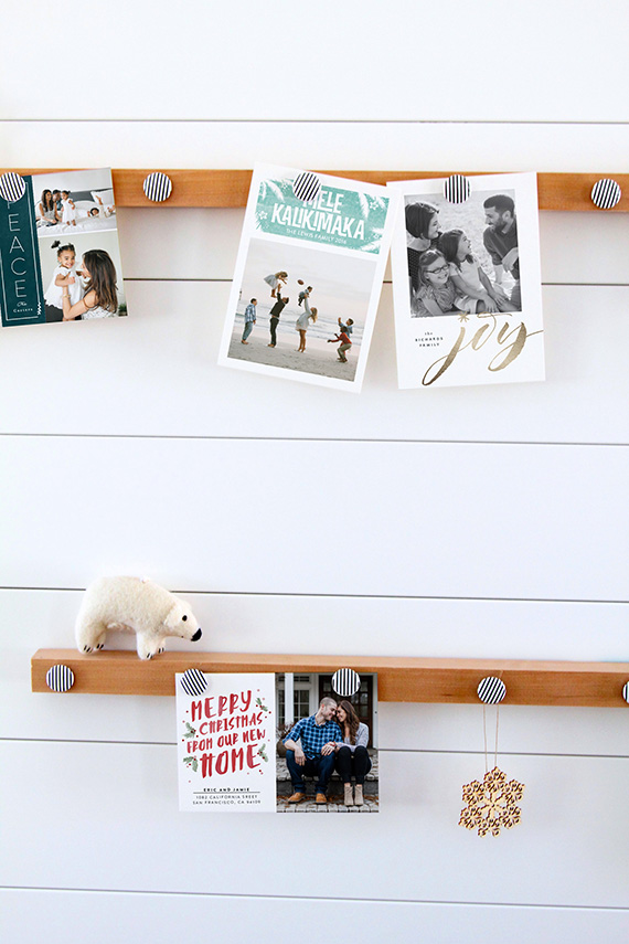 DIY Magnetic Holiday Card Display