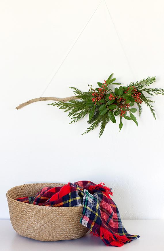 DIY Modern Organic Wreath | alice & lois for minted