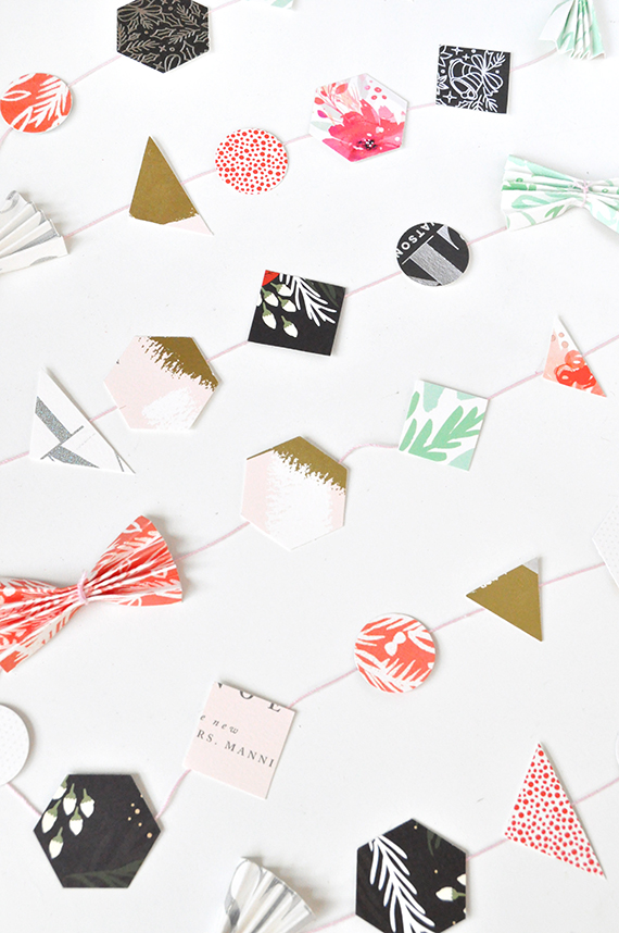 DIY Recycled Holiday Card Garland | Julep