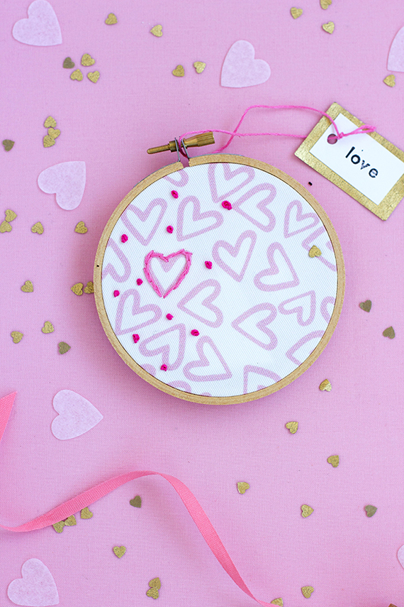 DIY Valentine Embroidery