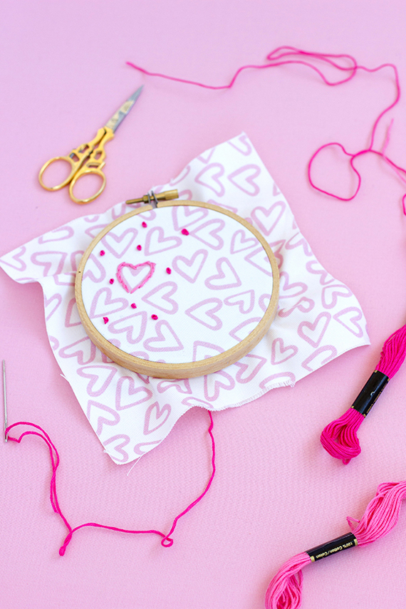 Diy Valentine S Day Embroidery Julep