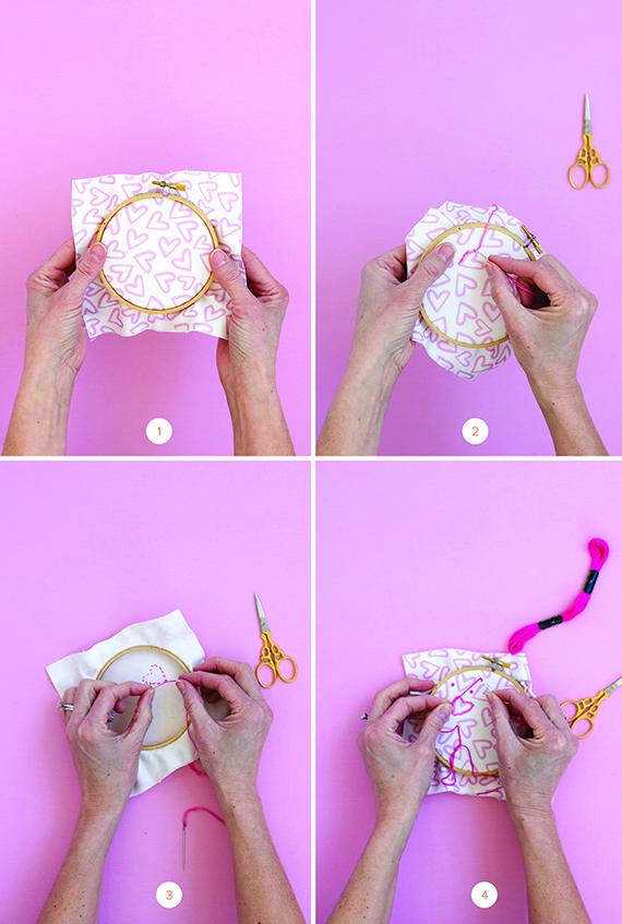 DIY Valentine Embroidery
