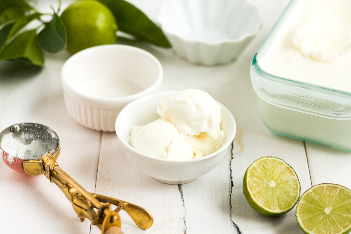 homemade lime sherbet