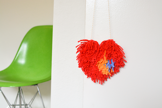 DIY Latch Hook Hearts for Valentine's Day