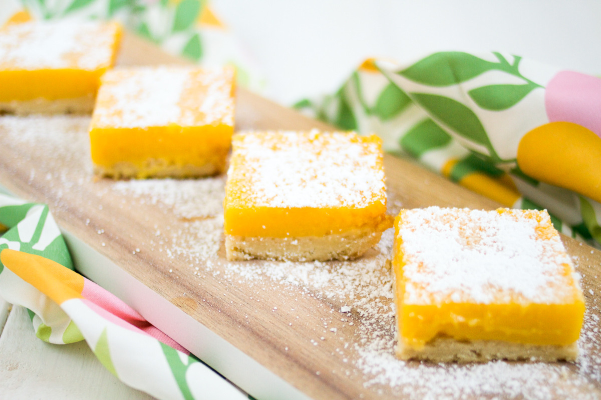 These tart and tasty lime bars feature creamy lime curd atop buttery shortbread.