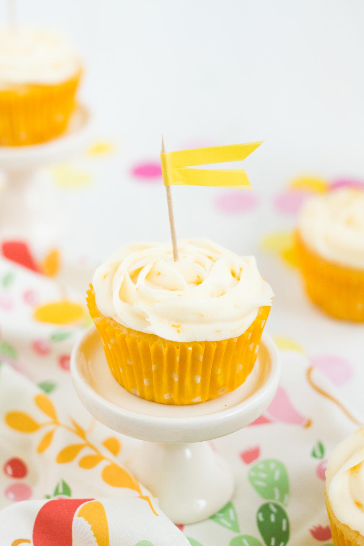 Meyer Lemon Cupcakes with Meyer Lemon Buttercream