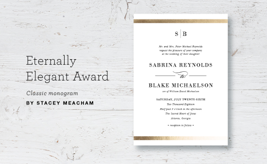 Wedding search results julep for the design that best lays the groundwork for a sophisticated classic wedding classic monogram by stacey meacham stopboris Image collections