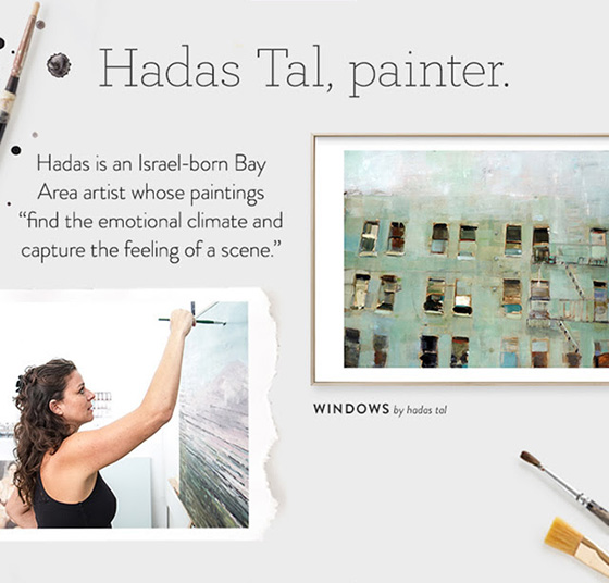 Israeli-Californian artist Hadas Tal marries realism and abstraction with a designer's eye