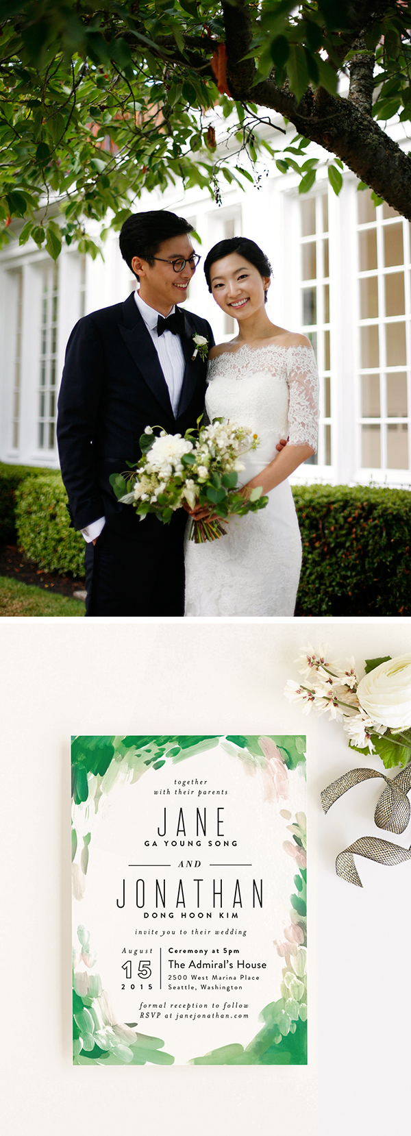 Minted Real Wedding Seattle