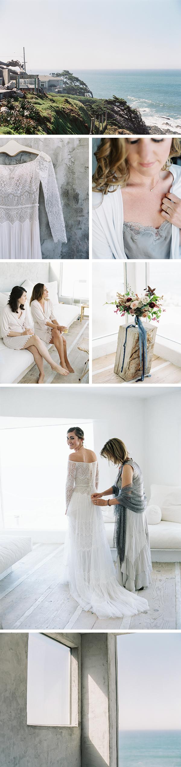 Minted real wedding, Montara, CA