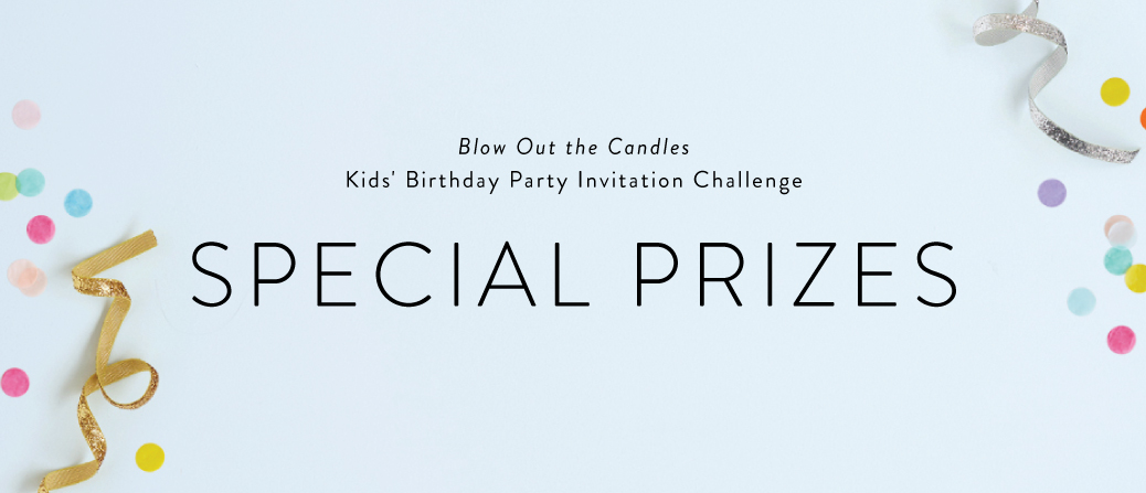 blow out the candles kids birthday party invitation challenge